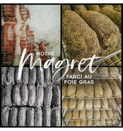 Magret séché farcis au foie gras 400g
